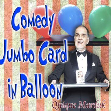 Jumbo Comedy Card in Balloon